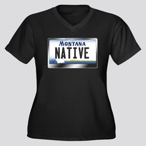 Montana License Plate - [NATIVE] Women's Plus Size